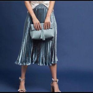 Anthro HD in Paris Blue Gemma Pleated Skirt